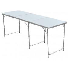 InGarden Állítható magasságú összecsukható kemping asztal  - 180 cm Előnézet