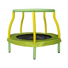 Aga gyerek trambulin 116 cm - Világoszöld/sárga Előnézet