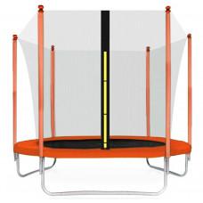 Aga SPORT FIT 250 cm trambulin belső védőhálóval - Narancssárga