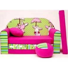 Gyerek kanapé - nyuszis Előnézet