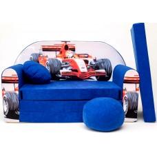 Gyerek kanapé - versenyautós/ kék Előnézet