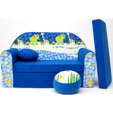 Gyerek kanapé - dzsungel/ kék Előnézet