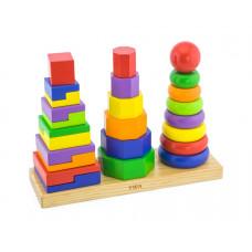 Montessori toronyépítő készlet Inlea4Fun - 50567 Előnézet