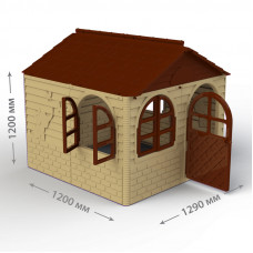 Inlea4Fun DANUT kerti játszóház 129x129x120 cm - Bézs Előnézet
