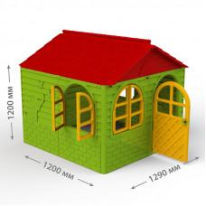 Inlea4Fun DANUT kerti játszóház 129x129x120 cm - Zöld Előnézet