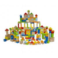 Inlea4Fun fa építőkocka gyermekeknek 250 darabos