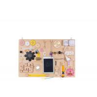 Matatófal, foglalkoztató tábla gyerekeknek MT11 75 x 50 cm - natúr/sárga