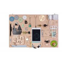 Matatófal, foglalkoztató tábla gyerekeknek MT13 75 x 50 cm - natúr
