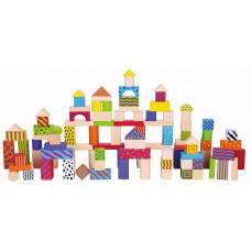 Inlea4Fun fa építőkocka gyermekeknek 100 darabos Előnézet