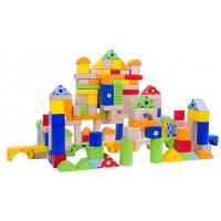 Fa építőkocka gyermekeknek Inlea4Fun 150 darabos