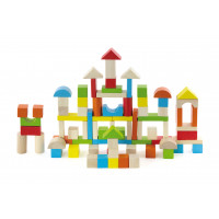 Inlea4Fun fa építőkocka gyermekeknek 80 darabos