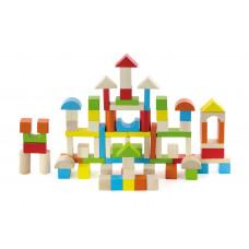 Inlea4Fun fa építőkocka gyermekeknek 80 darabos Előnézet