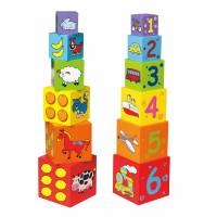 Toronyépítő kocka Inlea4Fun 59461