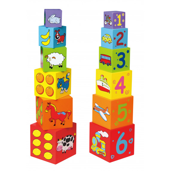 Inlea4Fun Toronyépítő kocka - 59461
