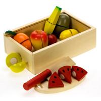 Inlea4Fun fa szeletelhető gyümölcsök faládában kiegészítőkkel