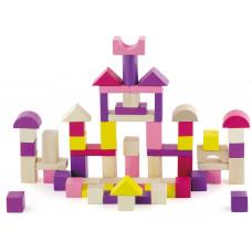 Inlea4Fun fa építőkocka gyermekeknek 60 darabos rózsaszín Előnézet