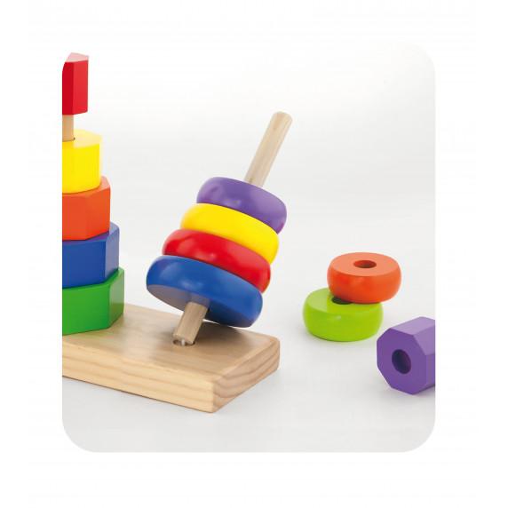 Montessori toronyépítő készlet Inlea4Fun - 50567