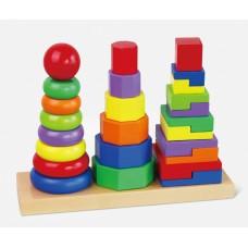 Inlea4Fun Montessori toronyépítő készlet Előnézet