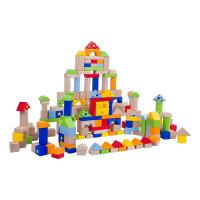 Fa építőkocka gyermekeknek Inlea4Fun 200 darabos