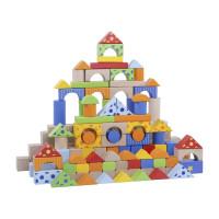Fa építőkocka gyermekeknek Inlea4Fun 300 darabos