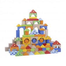 Fa építőkocka gyermekeknek Inlea4Fun 300 darabos Előnézet