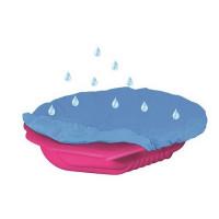 Inlea4Fun Nagy Kagyló homokozó takaróval - rózsaszín