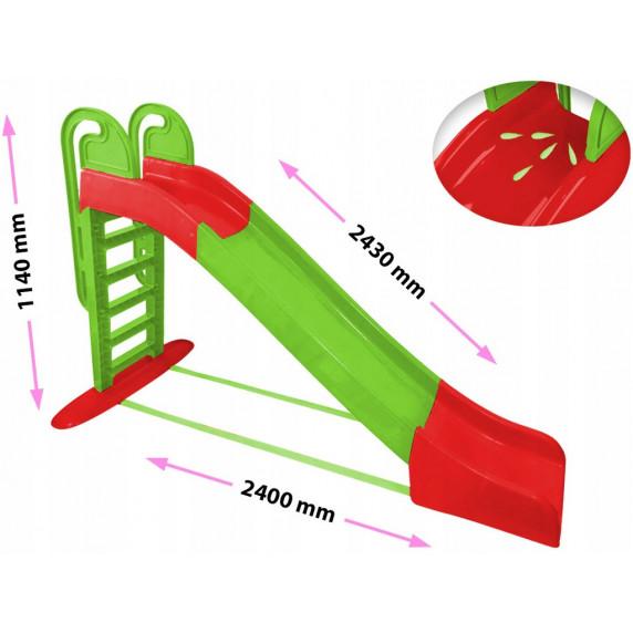 Csúszda kapaszkodóval 243 cm Inlea4Fun - zöld