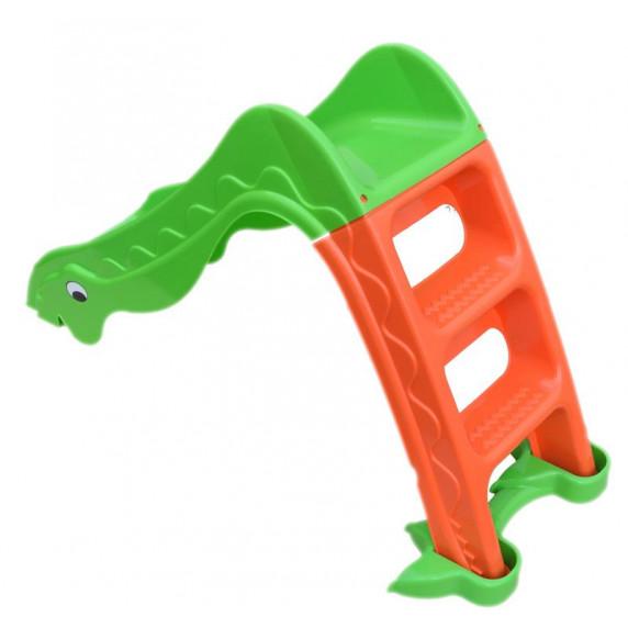 Inlea4Fun Dínó csúszda 135 cm - zöld