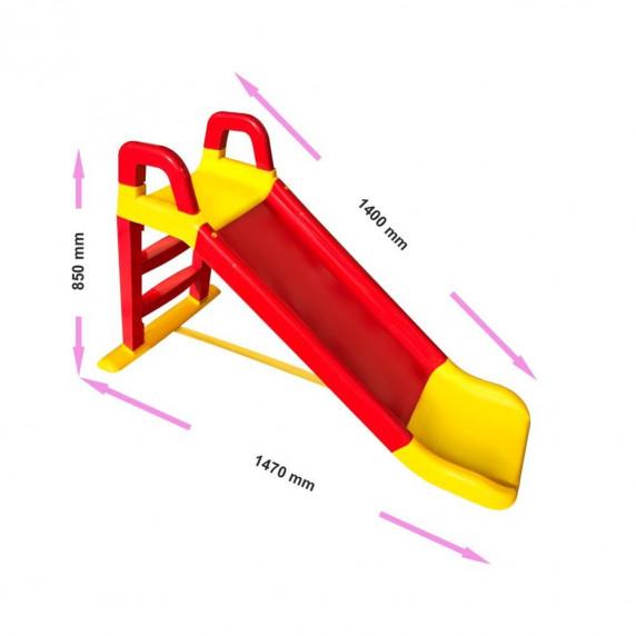 Csúszda kapaszkodóval 140 cm Inlea4Fun - piros