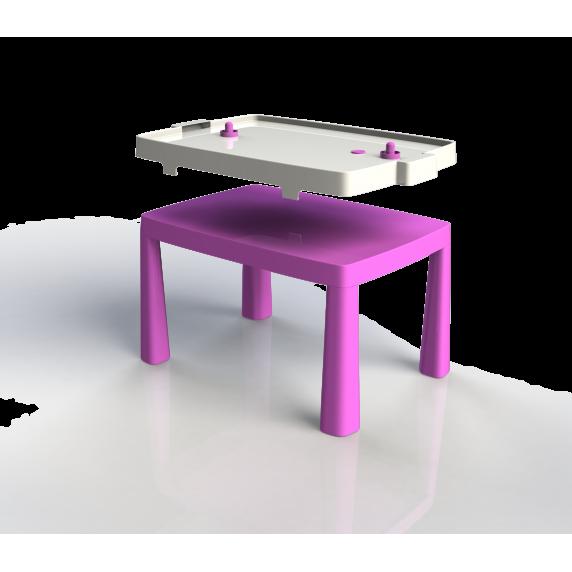 Műanyag gyerekaszal léghokival Inlea4Fun EMMA - Rózsaszín