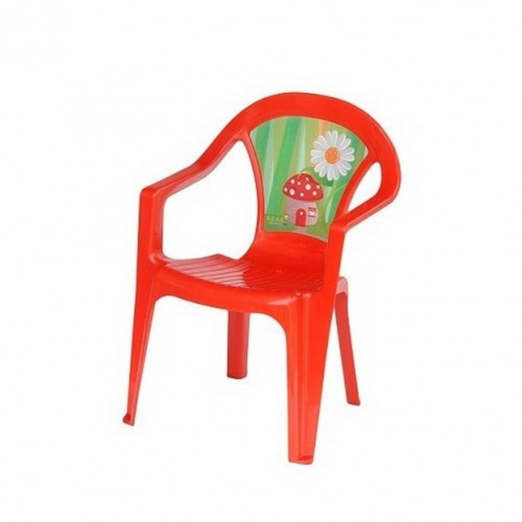 Műanyag szék gyerekeknek Inlea4Fun - Piros