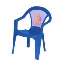 Inlea4Fun műanyag szék gyerekeknek - Kék Előnézet
