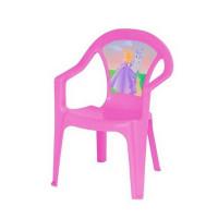 Inlea4Fun műanyag szék gyerekeknek - Rózsaszín