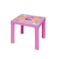Inlea4Fun Műanyag gyerekaszal mintával - Rózsaszín