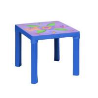Inlea4Fun Műanyag gyerekaszal mintával - Kék
