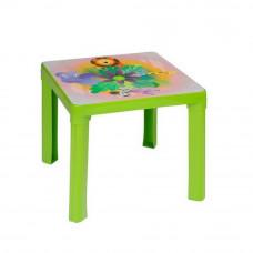 Inlea4Fun Műanyag gyerekaszal mintával - Zöld Előnézet