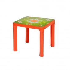 Inlea4Fun Műanyag gyerekaszal mintával - Piros Előnézet