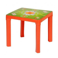 Műanyag kisasztal Inlea4Fun - Piros Előnézet