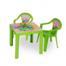 Inlea4Fun szett - kisasztal 2 székkel - Zöld Előnézet