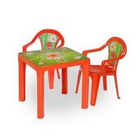Kisasztal 2 székkel - Piros