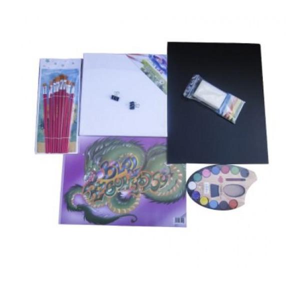Asztali festőállvány szett Inlea4Fun S60 WYP2 NATUR - natúr