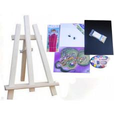 Asztali festőállvány szett Inlea4Fun S60-2 - natúr Előnézet