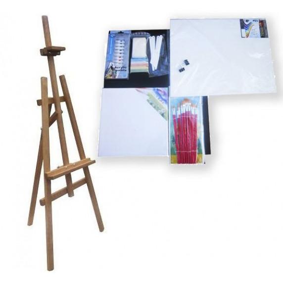 Festőállvány szett 180 cm Inlea4Fun S180-3 - barna