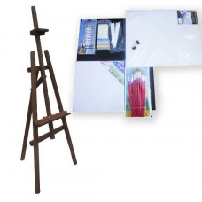 Festőállvány szett 130 cm Inlea4Fun S130-3 - sötétbarna Előnézet
