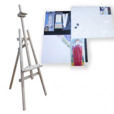 Festőállvány szett 130 cm Inlea4Fun S130-3 - natúr Előnézet