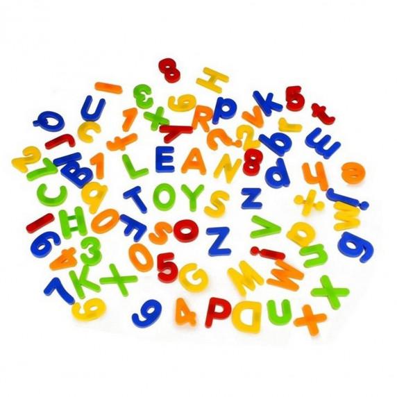 Inlea4Fun Színes mágneses betűk és számok 78 db
