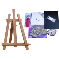 Asztali festőállvány szett Inlea4Fun S60-2 - barna Előnézet