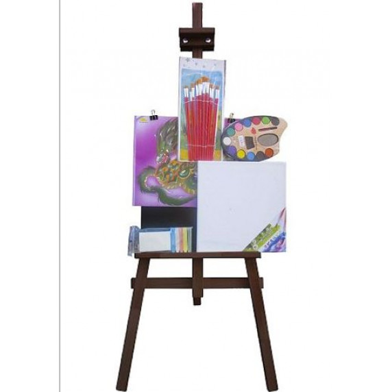 Festőállvány szett 180 cm Inlea4Fun S180-2 - sötétbarna
