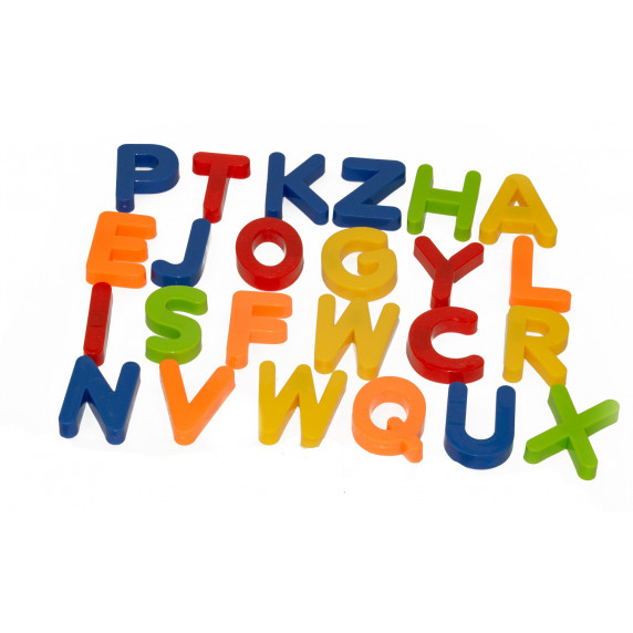 Színes mágneses betűk  Inlea4Fun 24 darabos