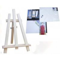 Asztali festőállvány szett Inlea4Fun S60 WYP3 NATUR - natúr